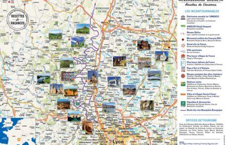carte Beaujolais Saône avec sites remarquables